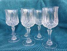 SET 6 VINTAGE CRiSTAL D'ARQUES LONGCHAMP PATTERN WHITE WINE DRINKS GLASSES 170ML