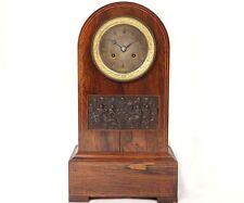 Pendule borne palissandre bronze La Cène Jésus Restauration clock XIXème