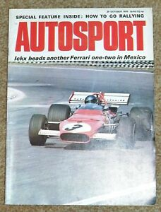 Autosport 29/10/70 - MEXICAN GP - JAGUAR E TYPE TEST - GOING RALLYING FEATURE