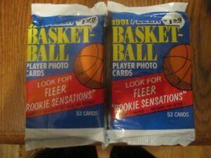 3 Unopened Jumbo Packs Of 1991-92 Fleer Basketball Cards (53 Cards each)