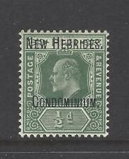 NEW HEBRIDES, BRITISH,  # 10,  KING EDWARD VII,  Overprint