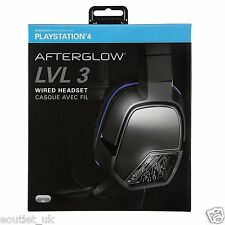 Afterglow Lvl 3 STEREO CUFFIE PER GIOCHI CON MICROFONO SONY PLAYSTATION 4 PS4