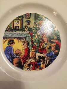 Fabulous Vintage Plate Showing A Traditional Christmas Scene