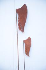 2st. Edelrost Gartenstecker Engel Flügel Rost Engelglügel H121*17 und 165*23cm