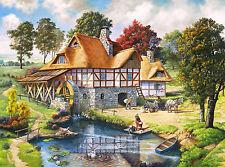 Puzzle An der Wassermühle, 2000 Teile, Natur, Kunst, Idylle, Castorland