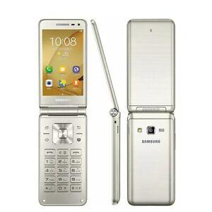 New Original Unlocked Samsung Galaxy Folder G1600 Dual SIM LTE Flip SmartPhone