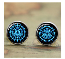 NEW Black Butler Anime Pentagram Stud Earrings Cosplay Jewelry Kuroshitsuji Gift