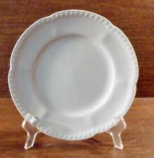 """4 Johnson Brothers OLD ENGLISH WHITE 8"""" Salad Plates EXCELLENT"""