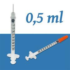 petite Seringue stérile + aiguille 0,5ml graduation 10 microlitres ultra précise