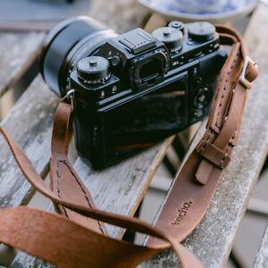 hecho. Kameragurt (Kameraband) - Handgefertig aus echtem Leder