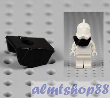 LEGO Star Wars - Black Armor Pauldron Plastic Clone Trooper Helmet Cody Minifig