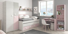 Pack mobiliario infantil completo dormitorio juvenil color rosa INCLUYE SOMIERES