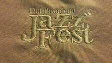 2006 Old Pasadena CA Jazz Fest Size XL Brown Silk/Cotton T-Shirt Festival Music