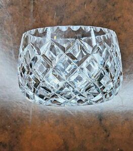 Dramatic Diamond Cut Glass Bowl, 1930s, 100mm D, 70mm H, A++ Condition