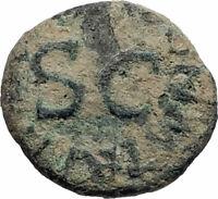 CLAUDIUS Authentic 42AD Rome Food MODIUS Original Ancient Roman Coin i74902