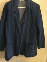 Joanna Denim Oversized Blazer Jacket Size M