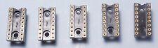 Qty (5) EMC 16-Pin DIP All Gold High-Reliability USA IC Socket Hi-Rel High-Rel