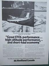 6//1974 PUB DE HAVILLAND TWIN OTTER PILGRIM AIRLINES JOE FUGERE ORIGINAL AD