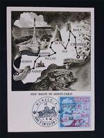 MONACO MK 1960 RALLEY MONTE CARLO MAXIMUMKARTE CARTE MAXIMUM CARD MC CM c6761