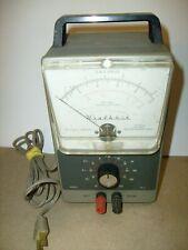 Vintage Heathkit Vacuum Tube Voltmeter Vtvm Model Im 21