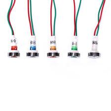 Car Boat 12v10mm Led Indicator Light Pilot Dashboard Panel Warning Lamp Wirehm