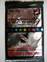 1990-91 7th Inning Stretch WHL Hockey - 3 Packs Of Cards - 10 Cards per Pack