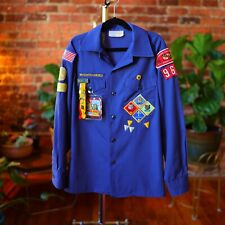 Cub Scouts Shirt BSA Uniform Youth Size 14 Patches Pins Made In USA Webelos 90s