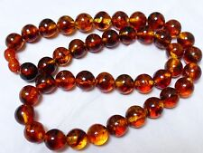 Vintage Genuine Baltic Amber Beads Necklace, 34 grams
