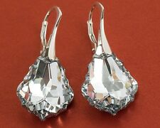 BIG BAROQUE 22 GENUINE SWAROVSKI CRYSTAL EARRINGS  - 925 SILVER many colors