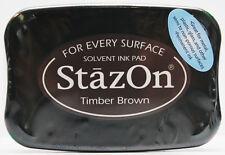 Tsukineko StazOn Timber Ink Pad Brown
