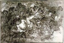 Goya Drawings: Inferno - Fine Art Print