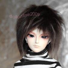 "MSD 17~18cm 7~8"" 1/4 fur wig BJD Doll dark brown Hair AOD DOD AF DK DZ LUTS POPO"