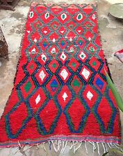 Massive Vintage moroccan boucherouite Rag Rug 370 X 174cm  12ft2 x 5ft8