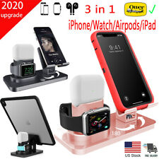 3 in 1 Charging Station Charger Stand Dock For iPhone 11 X XR 8 7 iWatch iPad