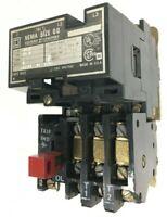 Square D 8536AG2 Magnetic Starter Size 00 600V 3Ph 2HP 120V Coil A4.79 Heaters