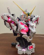 YH model 1/35 RX-0 Unicorn Bust Head Gundam Full Psycho-frame Prototype with LED