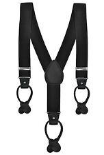 Formal 3.5cm Black Button On Braces Suspenders