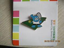 2010 shanghai expo mascot haibao TENNIS sport pin