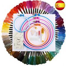 Hilos de Bordar Kit 72 Madejas Fuyit Bordado Kit de Hilos 5 aros de  (72 Colors)