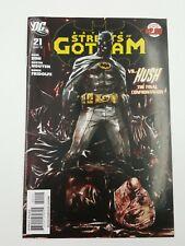 Comic book DC Batman Streets of Gotham VS Hush The Final Confrontation #21 2011