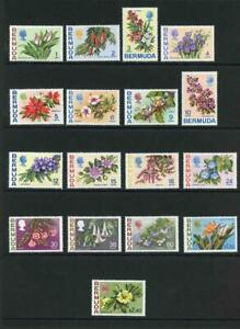 Bermuda SG249/65 Flowers Part Set of 17 (not the stamps issued in 1975) M/M