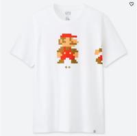 NEW UNIQLO UT Super Mario Dot Nintendo Men's Graphic T-Shirt White XXL
