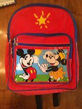 Vintage Retro Disney Mickey Mouse Minnie Kids Rugsack Youth Red Blue Ny