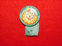 VINTAGE PINBACK BUTTON SOUVENIR OF THE CIRCUS CLOWN