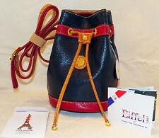 La Tour Eiffel Tri-Color Luxury Handbag Drawstring Sack Purse Authentic A35-1367