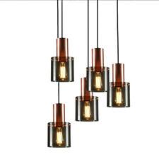 Glass Chandelier Pendant, Copper Golden Hanging Lamp for Living Dining Room, Bar