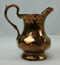 More details for wade lustre ware jug - cream / milk - bronze copper - 5