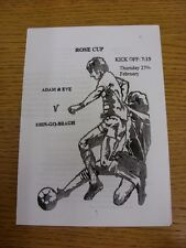 27/02/2014 Sutton And District League Rose Cup Final: Adam And Eve v Erin-Go-Bra