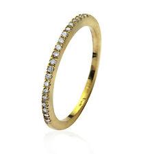 14k or Jaune Empillable Thin H / si Diamant Éternité Anneau Mariage Carats