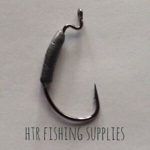 HTR Fishing Supplies 5 X  Weighted Weedless Jig Hooks (4 sizes)